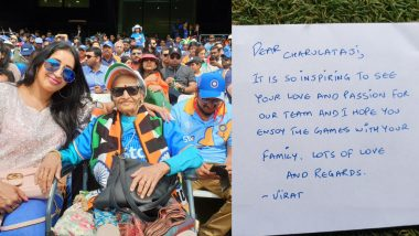 Charulata Patel, 87-Year-Old Fan, Attends India vs Sri Lanka CWC 2019 Match Thanks to Virat Kohli (See Pic)