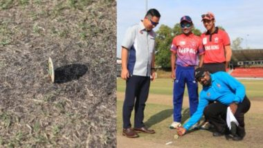 Neither Heads Nor Tails! Bizarre Coin Toss Takes Place Before Nepal vs Hong Kong U19 Cricket Match; Watch Viral Video