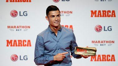 Cristiano Ronaldo Honoured With MARCA Leyenda Award; Says, He Hopes to Return to Madrid Soon (See Pics & Video)