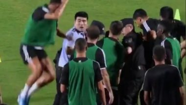 Cristiano Ronaldo Playfully Jumps on a Policeman After a Fan Tries to Invade Juventus Training Session (Watch Video)