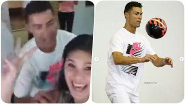 Cristiano Ronaldo Photobombs Yumin Primary School Teacher in Singapore (Watch Video)