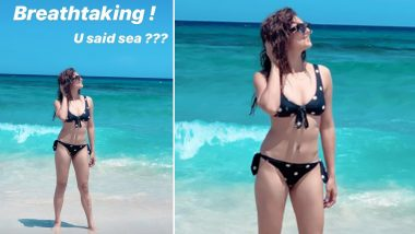 Drashti Dhami Flaunts Her Toned Figure in a Polka Dot Black Bikini, See Pictures From Her Beach Holiday