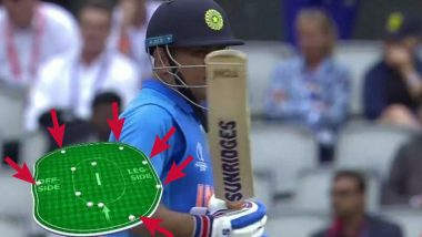 Umpire Error Cost India CWC 2019 World Cup Semi-Final? Controversy Erupts After Graph Shows 6 Fielders Outside 30-Yard Circle Before MS Dhoni's Run-Out in Powerplay 3