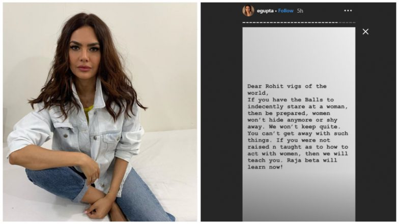 Esha Gupta Names and Shames Hotelier, Says 'This Guy Was Literally Raping Me with His Eyes' – See Posts