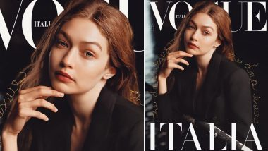 Gigi Hadid Debuts Red Hair on the Cover of Vogue Italia (View Pic)
