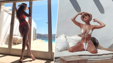 Gigi and Bella Hadid Flaunt Curves and Cleavage in Skimpy Bikinis on Their Summer Vacay to Mykonos (View Hot Pics)