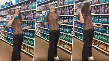 After Ice Cream Licking Girl Another Walmart Shopper Spits
