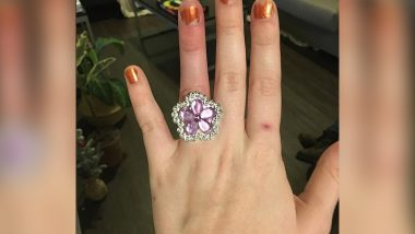 Bride-to-Be Reveals Her Fiancé Sold Their House to Afford 'Purple Diamond' Engagement Ring, Netizens Troll Her