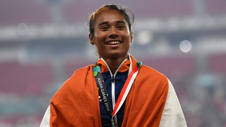 Hima Das Clinches Fifth Gold Medal in 18 Days! Watch Video of Indian Sprinter Win 400m Race at Athletics Meet 2019