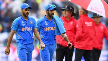 India vs New Zealand CWC 2019 Semi-Final Match Suspended Due to Rain: Play to Resume With NZ Innings on Reserve Day