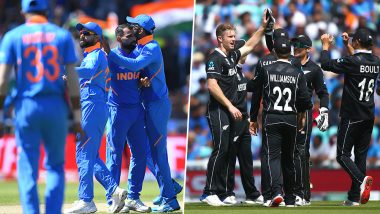 Ahead of India vs New Zealand World Cup 2019 Semi-Final 1 Match, Here's a Look at Virat Kohli and Kane Williamson's Teams' Win-Loss Record During Group Stage