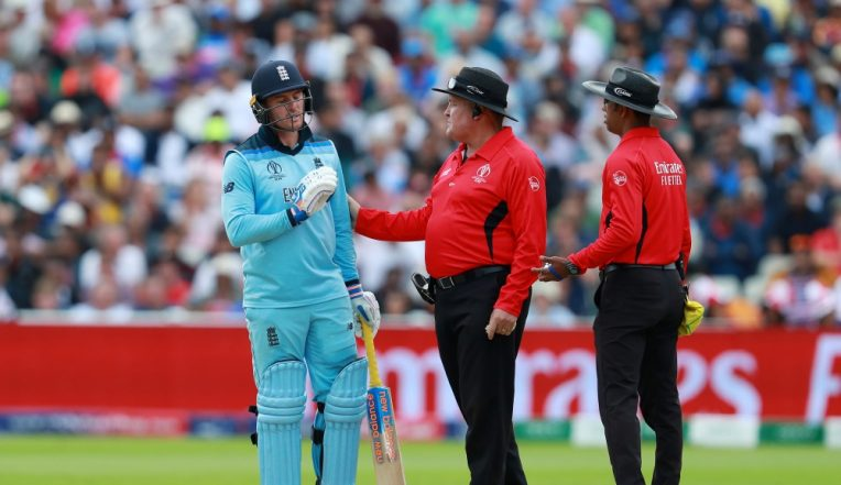 Jason Roy Faces Disciplinary Action For His 'Dissent' Against Umpire Kumar Dharmasena During England vs Australia Match in ICC CWC 2019