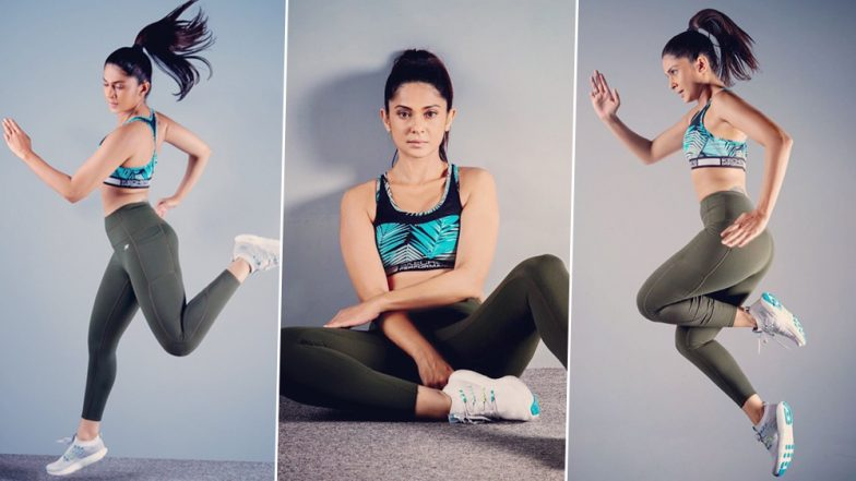 Jennifer Winget is Airborne as She Rocks the Classic Gym ...