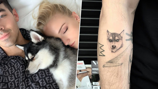 Joe Jonas and Sophie Turner Get Tattoos of Their Dog Waldo After Its Tragic Death