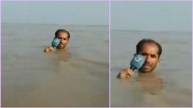 Pakistani Journalist's 'In-Depth' Reporting on Floods Go Viral, Twitterati in Splits (Watch Video)