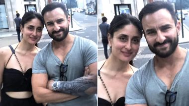 Is Saif Ali Khan's New Tattoo For His Film Jawaani Jaaneman? This Picture of the Actor With Kareena Kapoor Khan Shows Him Flaunting One