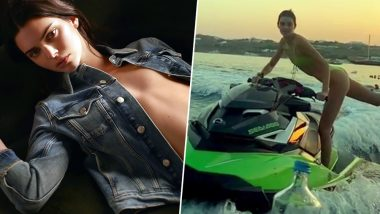 Kendall Jenner Does the Bottle Cap Challenge With a Twist… on a Jet Ski! (Watch Video)
