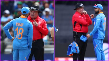 Virat Kohli Argues With Umpire After DRS Against Soumya Sarkar Goes Wrong During IND vs BAN CWC19 Match