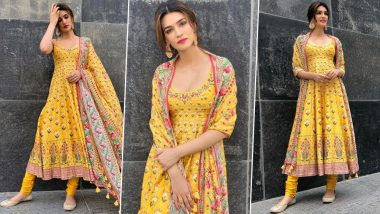 Cop or Drop: Kriti Sanon in Anita Dongre for Arjun Patiala Promotions