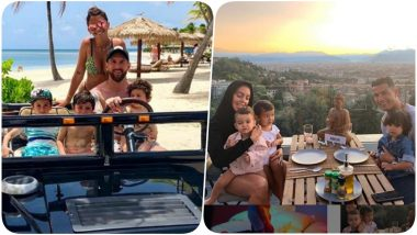 Lionel Messi Enjoys Vacation With Family, Cristiano Ronaldo Relishes Roof-Top Dinner With Kids & Girlfriend (See Pics)