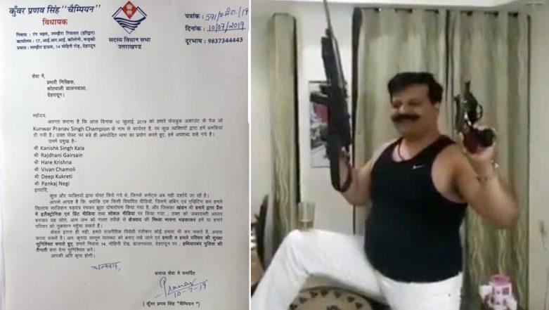 BJP MLA Pranav Singh Champion, Who Was Seen Brandishing Gun And Dancing, Seeks Security from Dehradun Police Over 'Being Threatened'