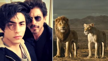 The Lion King: Shah Rukh Khan Shares How Working With Son Aryan Khan Was Special for This Disney Drama (Watch Video)