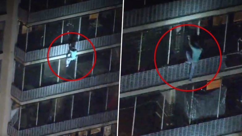 Man Climbs 19-Storey Building to Escape Fire in West Philadelphia Apartment! Watch Shocking Viral Video