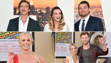 Once Upon a Time in Hollywood LA Premiere: Lead Stars Leonardo DiCaprio, Brad Pitt, Margot Robbie Pose Together, Celebs Chris Hemsworth, Britney Spears Attend