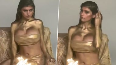 Mia Khalifa Covered in Gold Will Take Your Hump Day Blues Away (Watch Video)