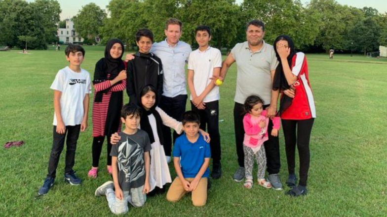 England World Cup Winning Captain Eoin Morgan Plays Cricket With Afghan Family