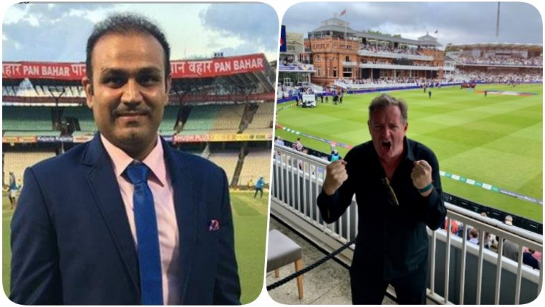 Piers Morgan Digs Up An Old Tweet From 2016 to Provoke Virender Sehwag Post England's World Cup 2019 Victory