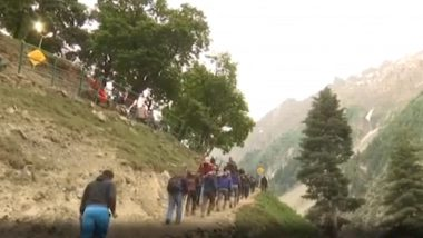 Amarnath Yatra: 1st Batch of Pilgrims Start Journey, J&K Governor Says Muslims Play an Important Role