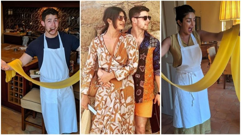 Priyanka Chopra Jonas and Nick Jonas' Date Night Is All about Love, Laughter and Some Italian Cooking! Pics and Videos