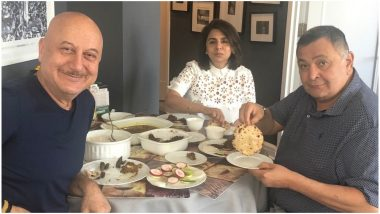 Rishi Kapoor Relishes 'Aate ka Phulka' as He Enjoys a Lunch Outing with Neetu Kapoor and Anupam Kher in New York- View Pic