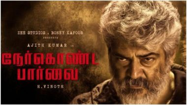 Nerkonda Paarvai Box Office Collections: Thala Ajith's Film Gets a Record-Breaking Start! Earns Rs 1.58 Crore in Chennai