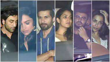Ranbir Kapoor, Deepika Padukone, Shahid Kapoor-Mira Rajput, Arjun Kapoor-Malaika Arora and Others Party at Karan Johar's House! Pics and Video