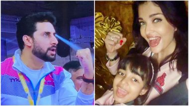 Aishwarya Rai Bachchan-Aaradhya's Excitement on Pro Kabaddi Team Jaipur Pink Panthers Big Win Is Clear in This Pic!