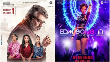 NerKonda Paarvai EDM Song Kaalam Lyrical Video: The Second Song From Thala Ajith's PINK Remake Is Peppy and Infectious