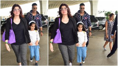 Akshay Kumar, Twinkle Khanna and Nitara Leave for their Annual Holiday, a Day After their Flight Got Cancelled Due to Mumbai Rains - View Pics