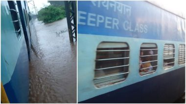 Mumbai Rains: Mahalaxmi Express, With 2000 Passengers Onboard, Stuck Between Badlapur and Vangani; Central Railway Carries Out Second Rescue Operation; Watch Video