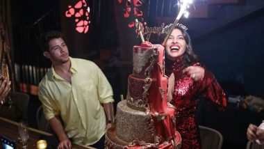 Awe Inspiring Priyanka Chopras Birthday Cake Cost Rs 3 5 Lakh And Here Is What Funny Birthday Cards Online Fluifree Goldxyz