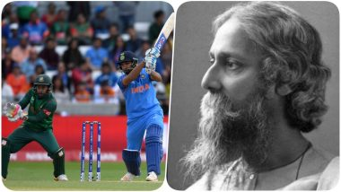 Netizens Remember Rabindranath Tagore After India and Bangladesh National Anthems Are Played Ahead of ICC CWC 2019 Match