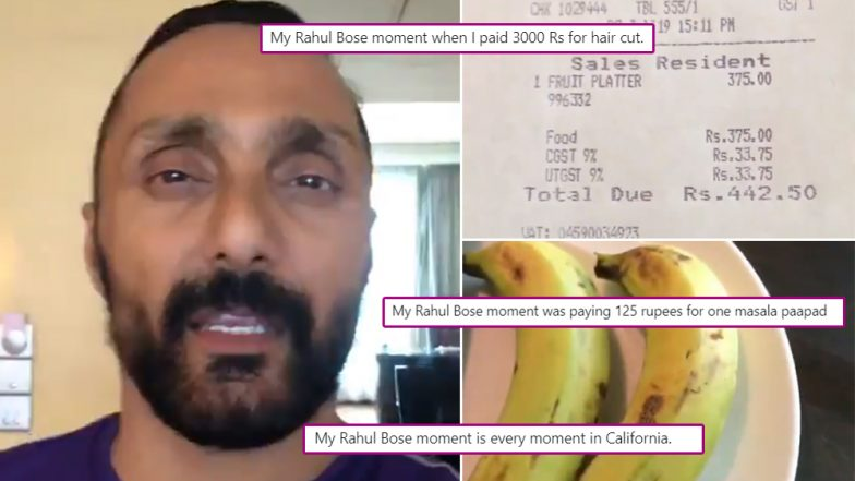Twitterati Share Their Hilarious 'Rahul Bose Moment', After Video of the Actor Ranting JW Marriott's Bill for Two Bananas Goes Viral (Read Tweets)