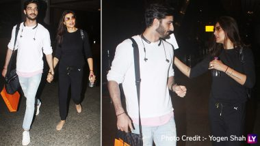Amidst Wedding Rumours, Sushmita Sen and Her Boyfriend Rohman Shawl Make a Hand-in-Hand Appearance at the Airport - See Pics