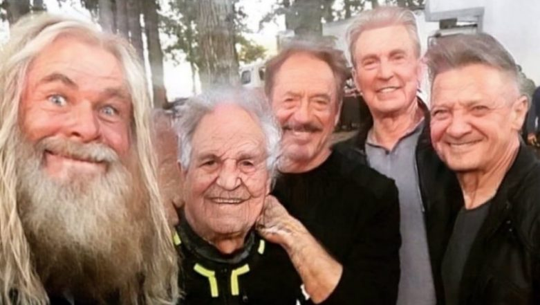Jeremy Renner Shares a FaceApp Age Filter with Robert Downey Jr, Mark Ruffalo, Chris Evans and Chris Hemsworth and this is the 'Endgame' We Were Praying For