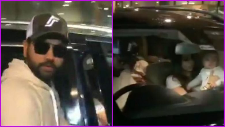 Rohit Sharma Arrives in India Along With Wife Ritika Sajdeh and Daughter Samaira Following Indian Cricket Team's CWC 2019 Exit, Watch Video