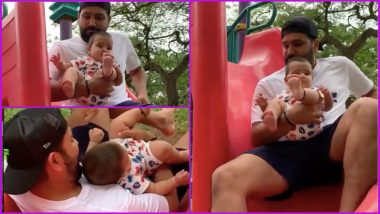 Rohit Sharma Enjoys Sunday With Daughter Samaira Before Leaving for West Indies Tour, Watch Video