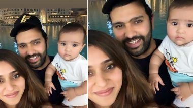 Rohit Sharma, Ritika Sajdeh and Baby Samaira Celebrate Their First Christmas Together, Watch This Adorable Video