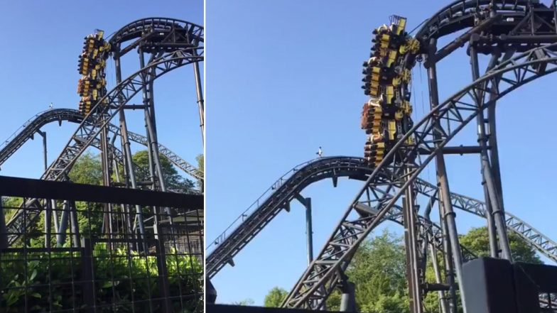Alton Towers Smiler Roller Coaster Stops Midway, Riders Stuck at 100ft in the Air for 20 Minutes (Watch Viral Video)