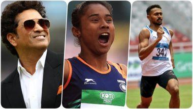 Sachin Tendulkar Congratulates Hima Das, Tajindar Pal Singh Tor, Muhammed Anas Yahiya, KS Jeevan & VK Visamaya for Winning Medals at Poznan Athletics Grand Prix 2019